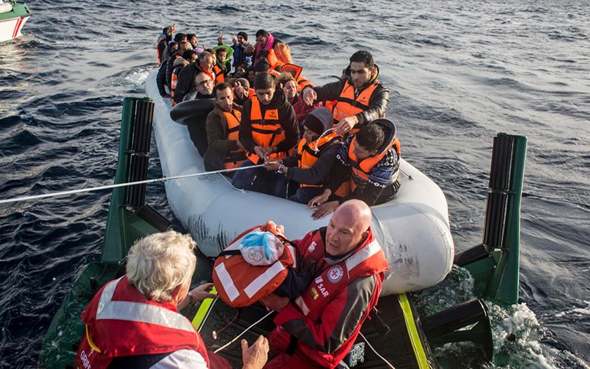 Einsatz des Seenotkreuzers Minden