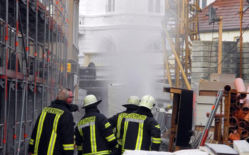 Feuerwehreinsatz auf der Großbaustelle