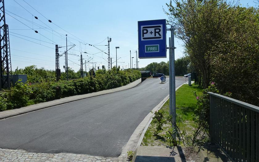 Zuwegung zum Parkplatz in Norddeich