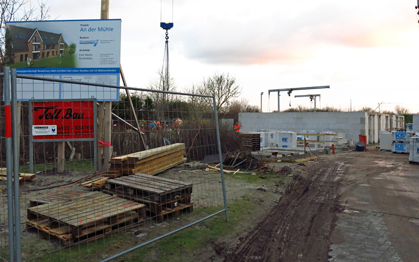 Baustelle an der Mühle