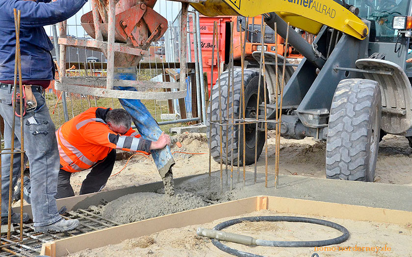 Bauarbeiten am Norderneyer Kap