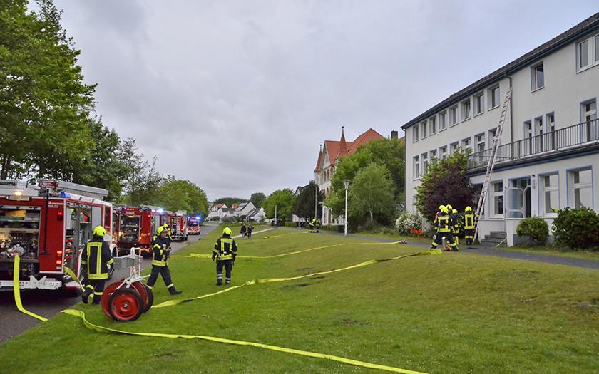 Großübung der Feuerwehr Norderney im Kinderkurheim Arnsberg