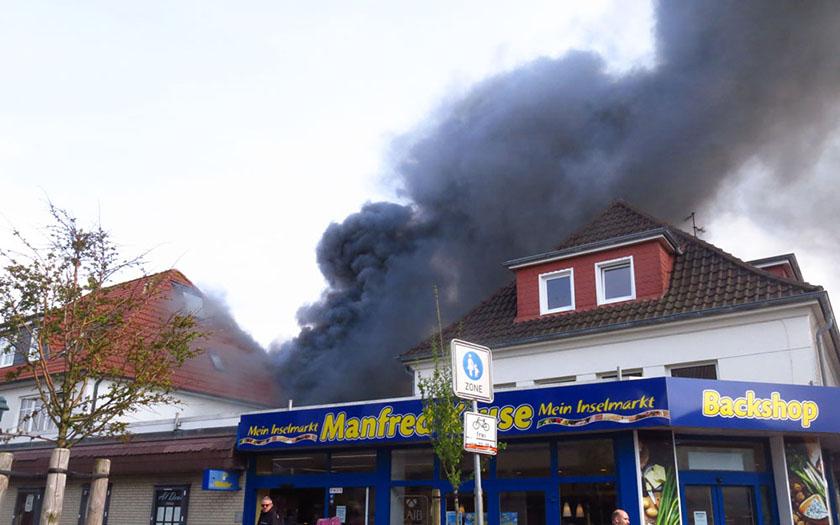 Brand am Inselmarkt