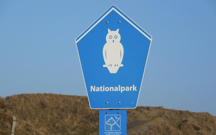 Hinweisschild Nationalpark