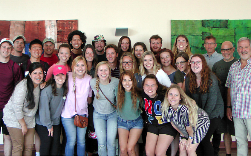 Texaner Studenten zu Besuch auf Norderney