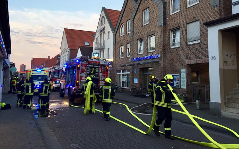 Feuerwehreinsatz bei Wohnungsbrand
