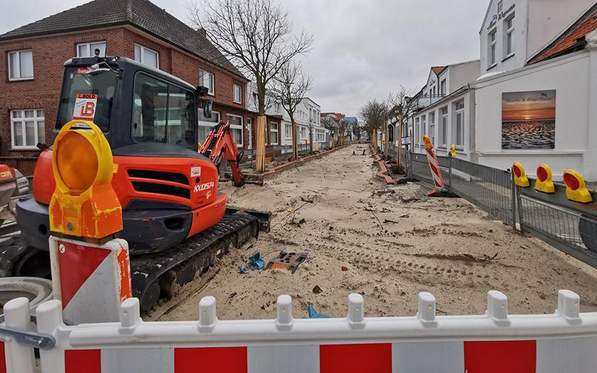 Bauarbeiten auf der Benekestraße