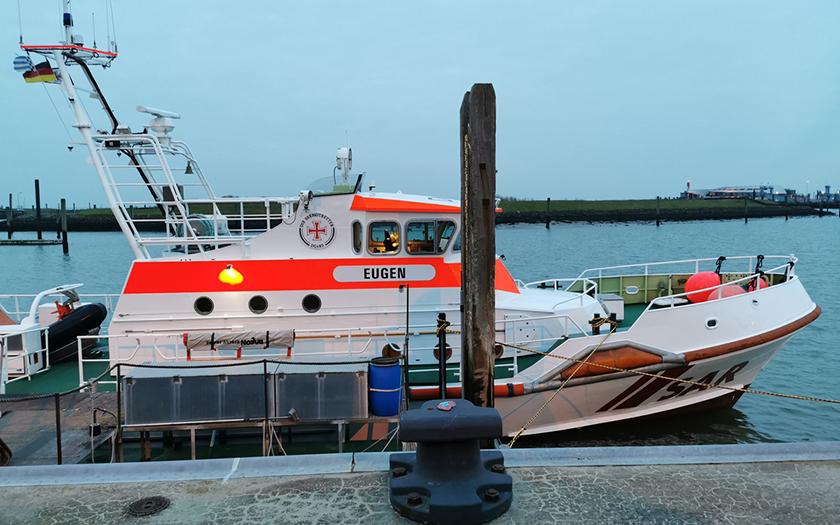 Seenotrettungskreuzer Eugen im Norderneyer Hafen