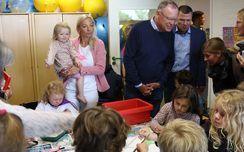 Der Ministerpräsident besucht