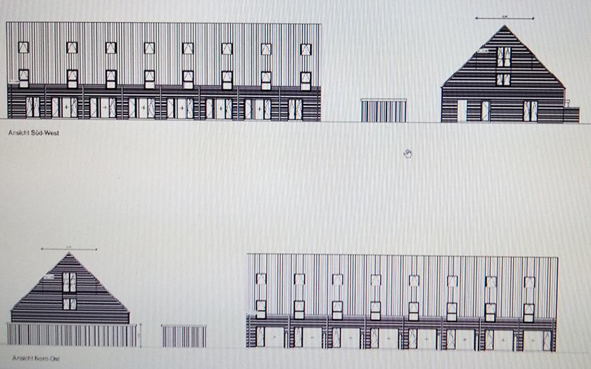 Planskizze des geplanten Baus