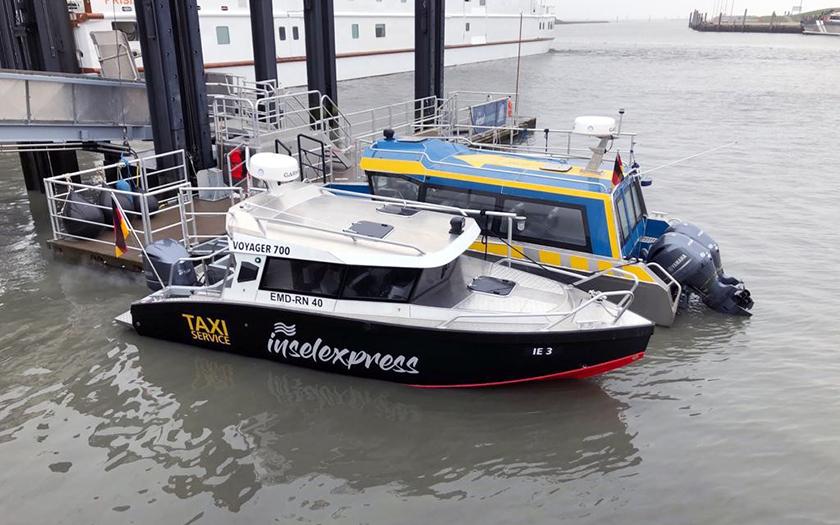 Schnellfähre und Inseltaxe der Reederei Cassentours