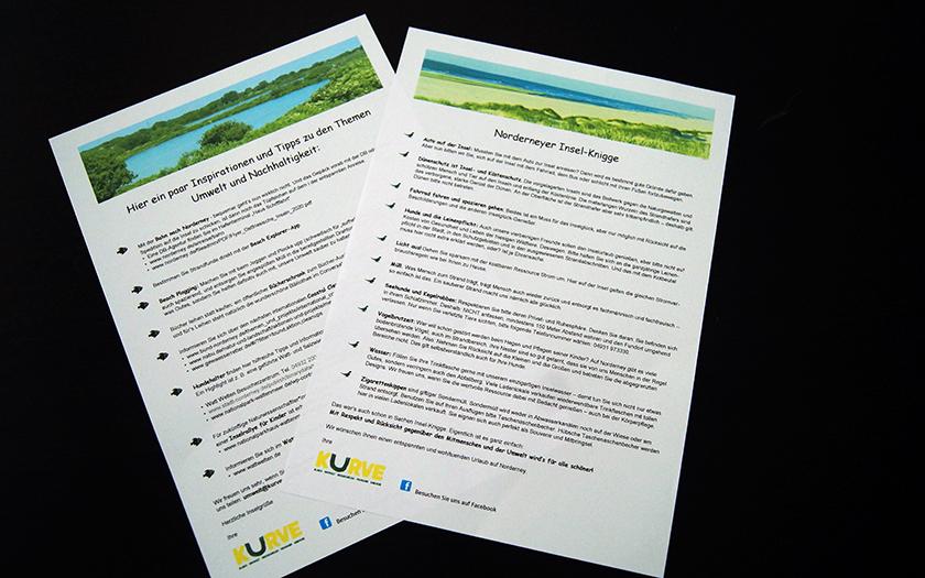 Der Insel-Knigge der Initiative Kurve auf Norderney