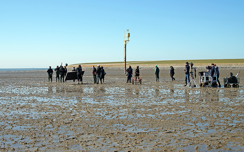 Sloborn Dreharbeiten auf Norderney im Watt