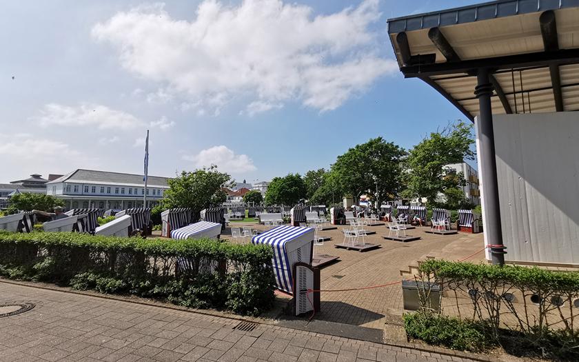 Strandkorbarena auf dem Kurplatz auf Norderney