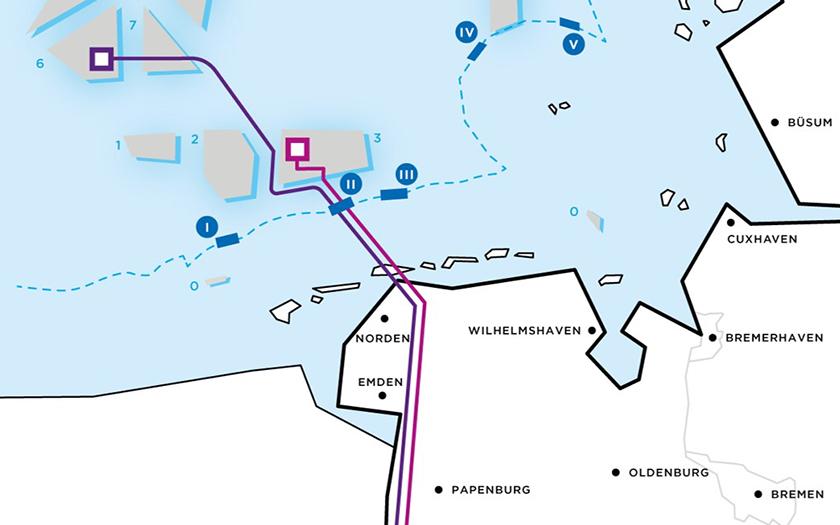 Übersichtplan für die Kabeltrasse