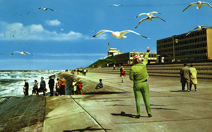 Norderneyer Strandpromenade in den 60ern
