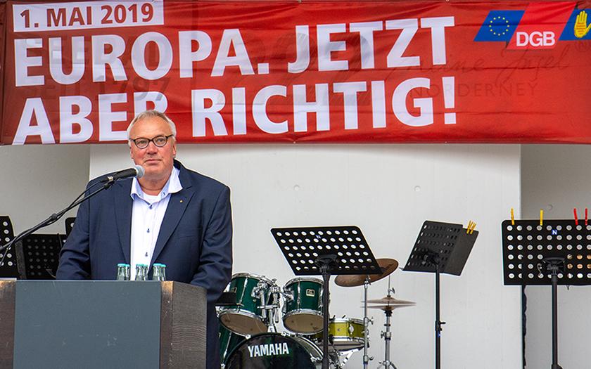 Mairede des DGB-Vorsitzendenr Olaf Poppinga 2019