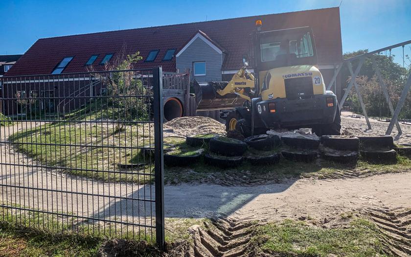 Sand für den evangelischen Kindergarten am Kap