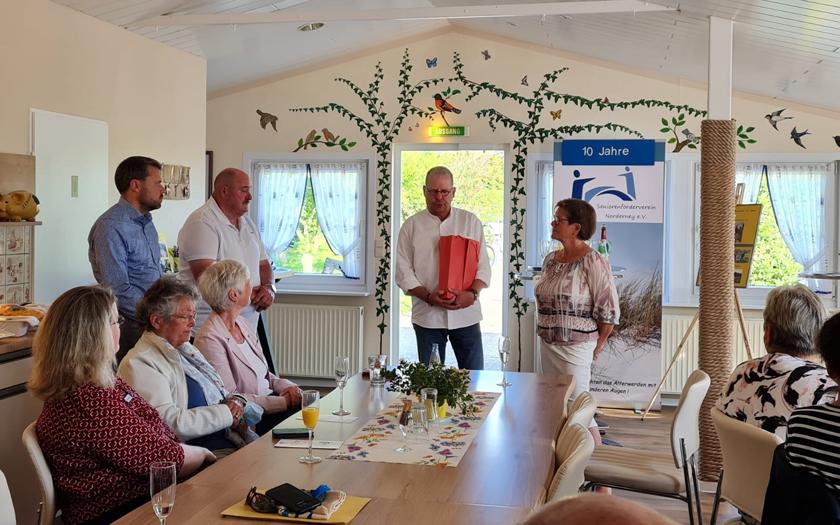 Der Seniorenförderverein Norderney feiert sein zehnjähriges Jubiläum im Kleingärtnerverein