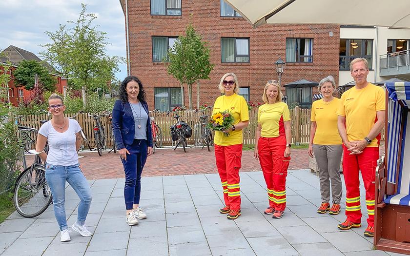 Die Leitung des To Huus bedankt sich bei der DLRG Norderney