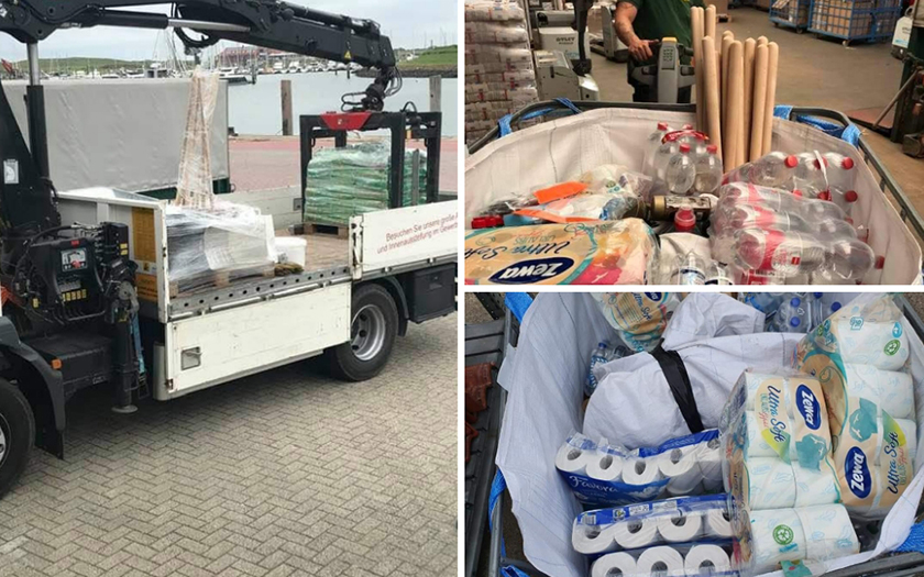 Hilfsgüter beim Transport