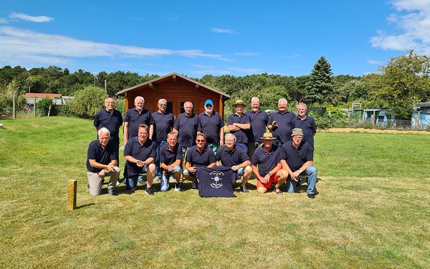 Teilnehmer der Meisterschaft im Kaischießen auf Norderney