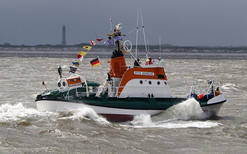 Die Otto Schülke bei der Fahrt nach Norderney