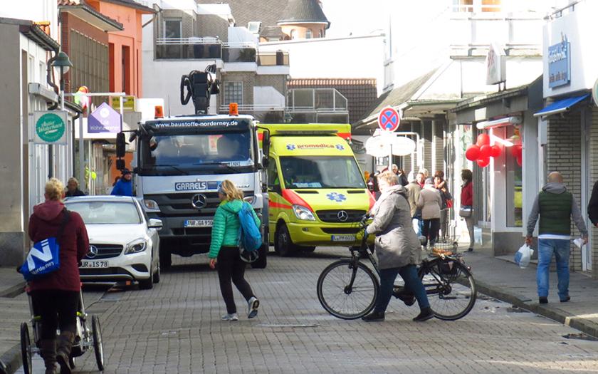 Verkehr in der Jann-Bergahaus-Straße